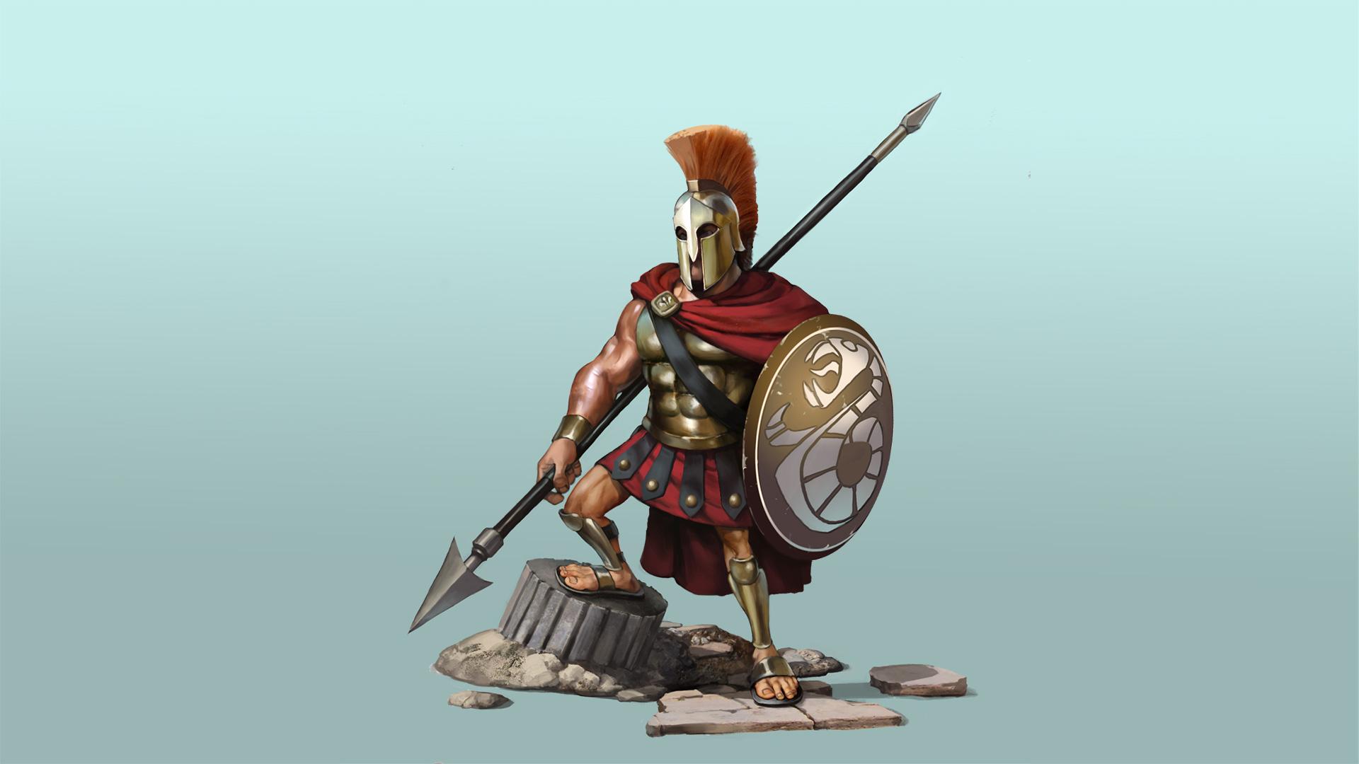 Цивилизация 6 греческий гоплит