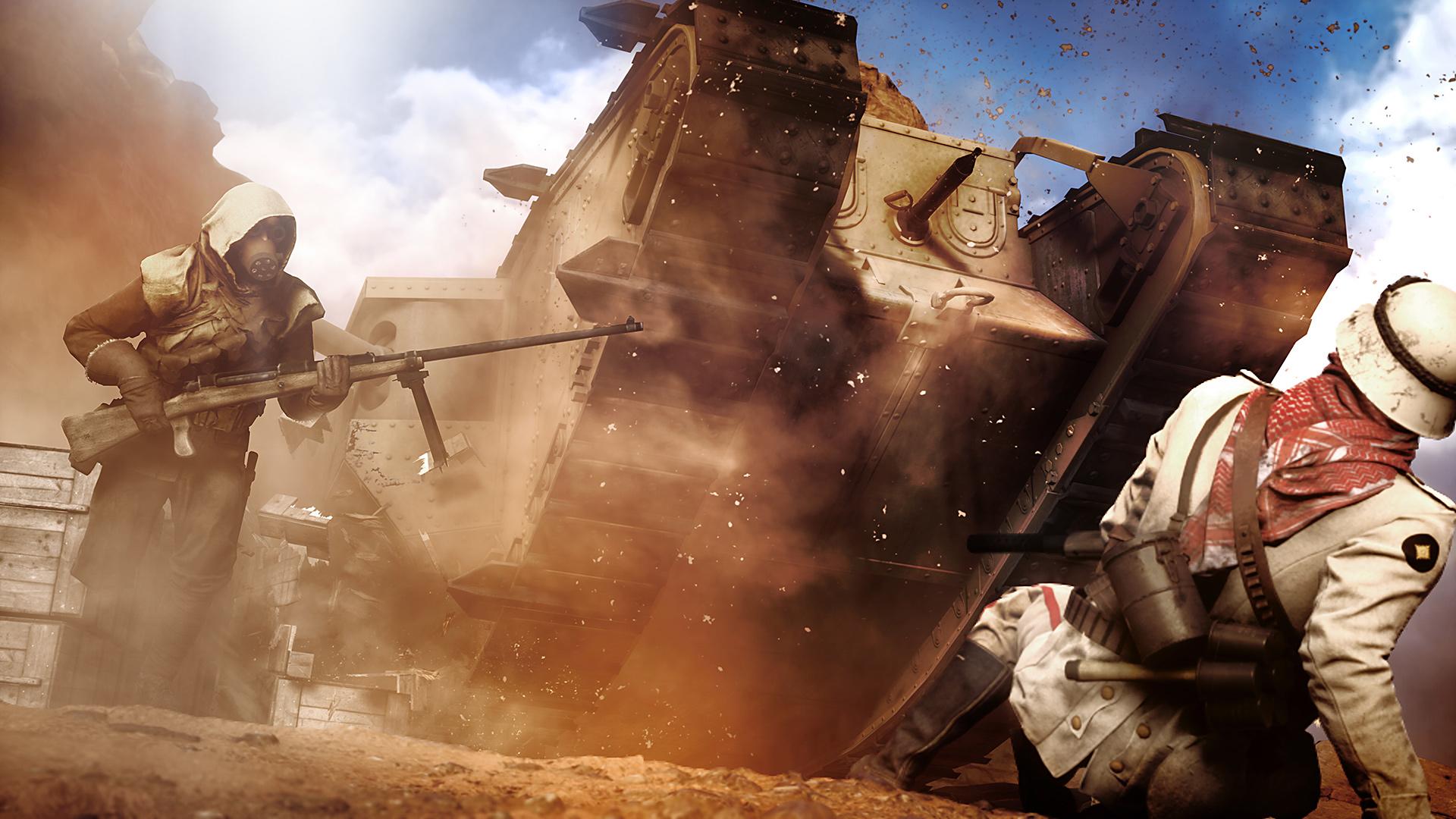 Battlefield 1 - карта Синайская пустыня