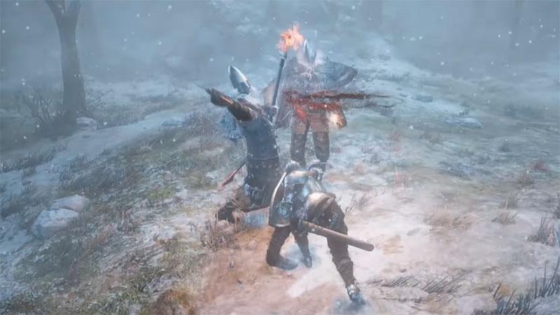 Dark Souls 3 Ashes of Ariandel - зимний бой