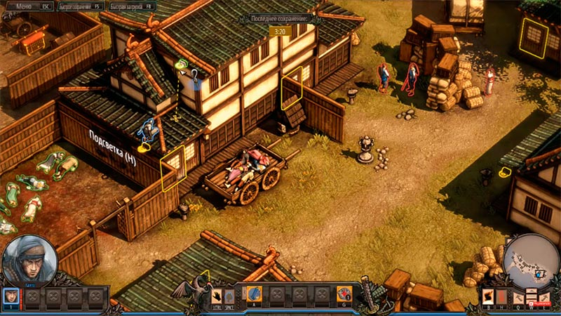 Shadow Tactics: Blades of the Shogun - геймплей