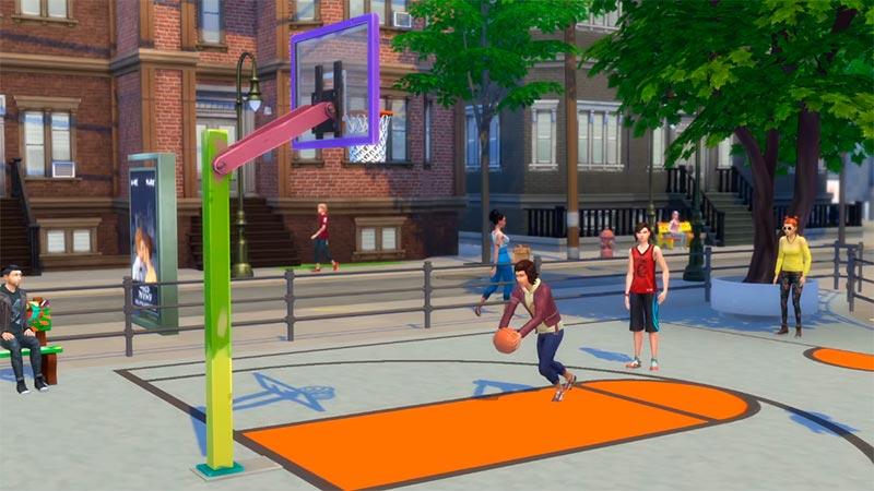 The Sims 4 Жизнь в городе - баскетбол