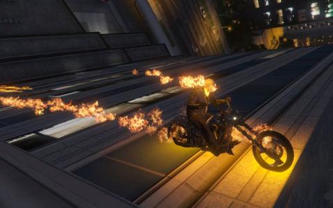 Мод Призрачный гонщик для GTA 5 скриншот 1