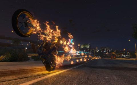Мод Призрачный гонщик для GTA 5 скриншот 3