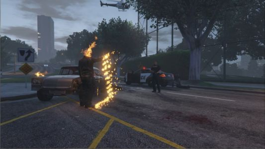Мод Призрачный гонщик для GTA 5 скриншот 6