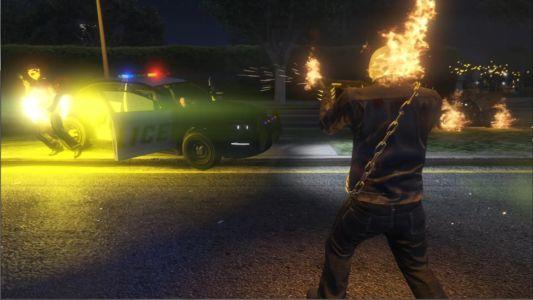 Мод Призрачный гонщик для GTA 5 скриншот 9