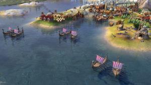 CivilizationVI Norway Viking Longship