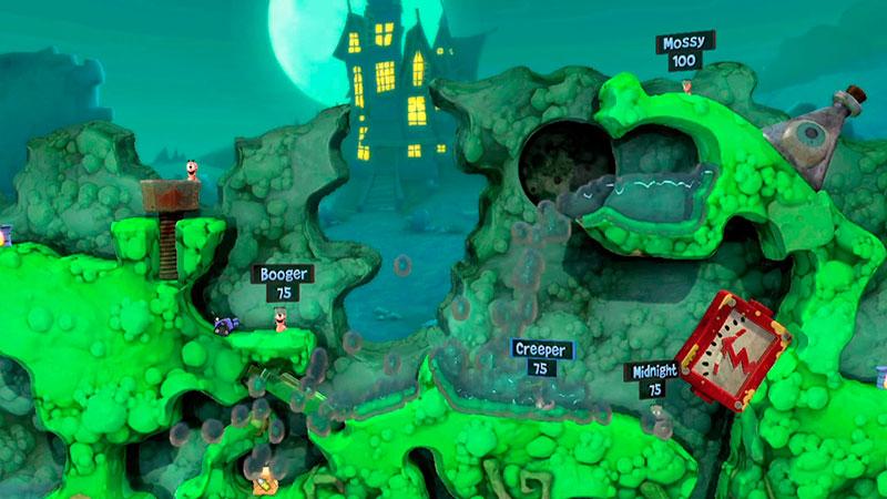 Worms Revolution - геймплей